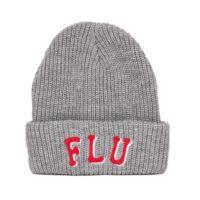 FLU LOGO BEANIE GREY/WHITE/RED-0
